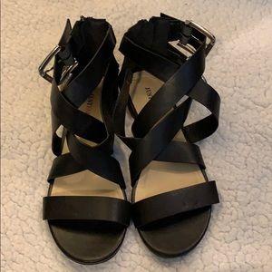 JustFab Amice Black Sandals